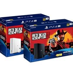 PS4 프로 본체 7117B (1TB) 레드 데드 리뎀션 2 번들패키지 화이트 /  PRO 화이트