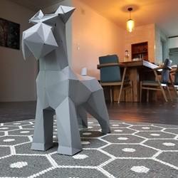 페이퍼크래프트 슈나우져 Papercraft Schnauzer