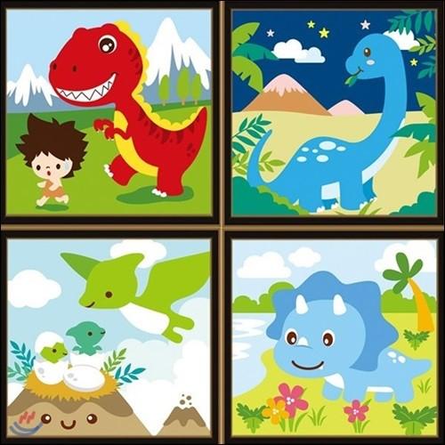 DIY 공룡 캔버스 그리기 (20 X 20)