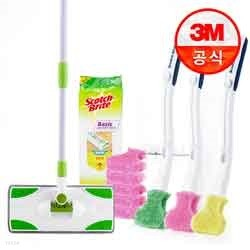 3M 청소용품 종합기획세트(청소포,막대걸레,크린스틱)