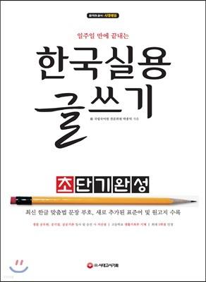 2019 한국실용글쓰기 초단기완성
