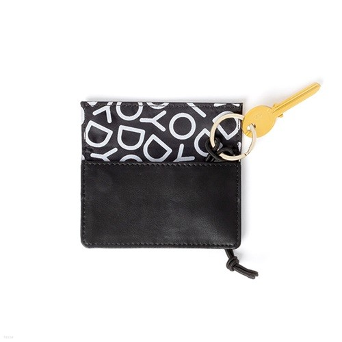 [도이] 호놈 식물성 인조 가죽 열쇠 지갑 블랙
