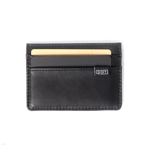 [도이] 호놈 식물성 인조 가죽 카드 지갑 블랙