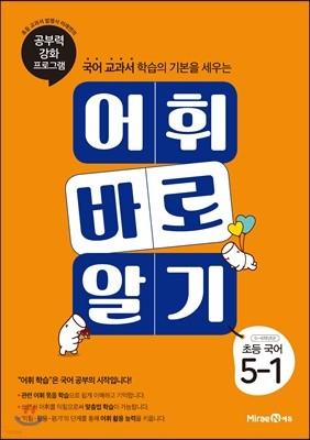 어휘 바로 알기 초등 국어 5-1 (2019년)
