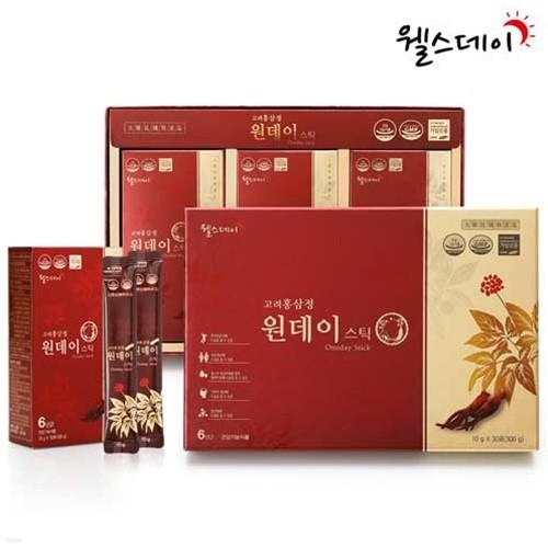 [웰스데이] 고려홍삼정 원데이스틱 (10g*30포)