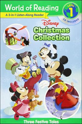World of Reading Disney Christmas Collection 3-in-1 Listen-along Reader Level 1