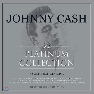 Johnny Cash (쟈니 캐시) - The Platinum Collection [화이트 컬러 3LP]