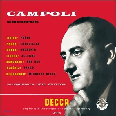 Alfredo Campoli 알프레도 캄폴리의 바이올린 연주집 (Encores Vol.1, 2) [LP]