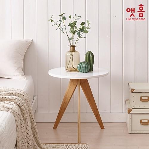 앳홈 원형 미니 테이블 겸 협탁 480