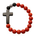 Sideways cross rosary