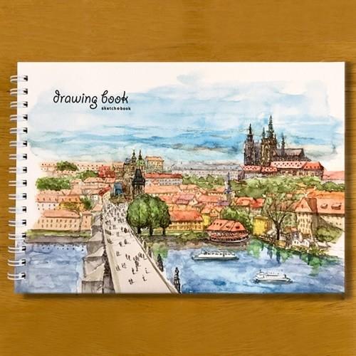 수채화 스케치북 여행용 A5 250g 프라하스케치북 01 프라하성