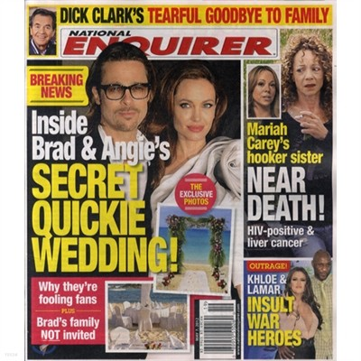 National Enquirer (주간) : 2012년 05월 07일자.