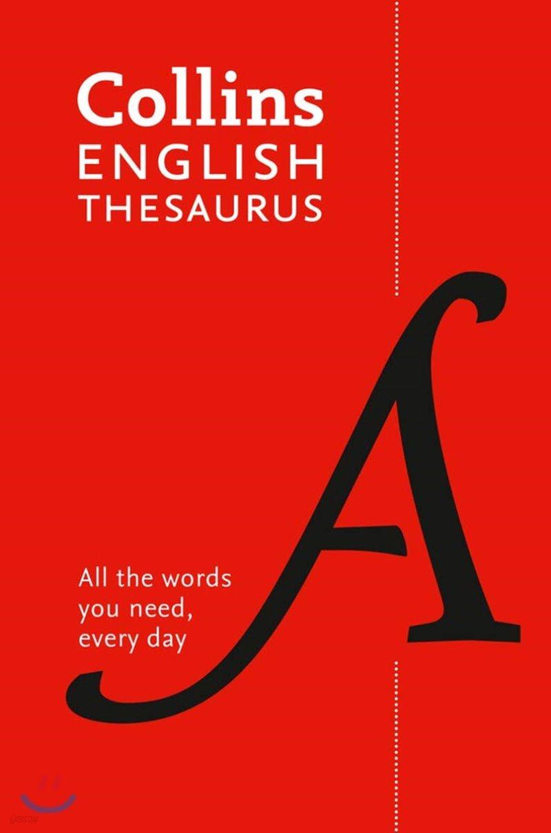 Collins English Thesaurus Essential