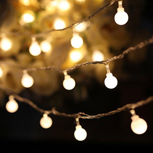 LED 앵두전구 와이어전구 크리스마스 트리 조명 30구
