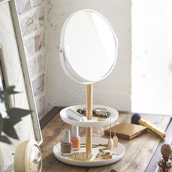 화이트 스탠드탁상화장대거울