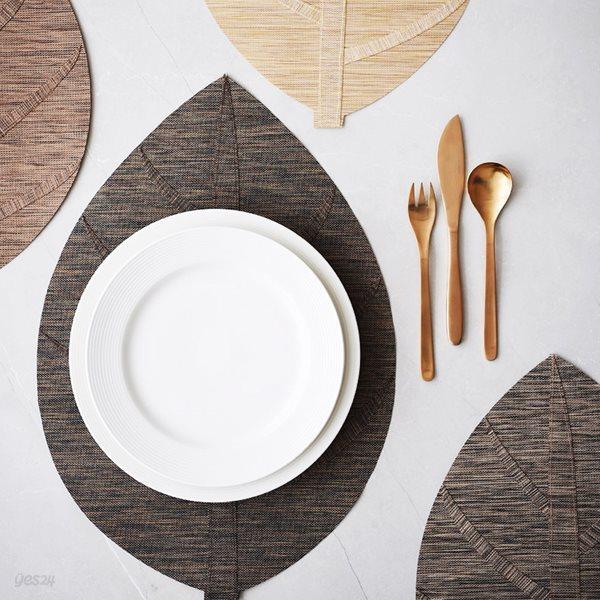 리프 식탁 테이블 매트 폴리지L