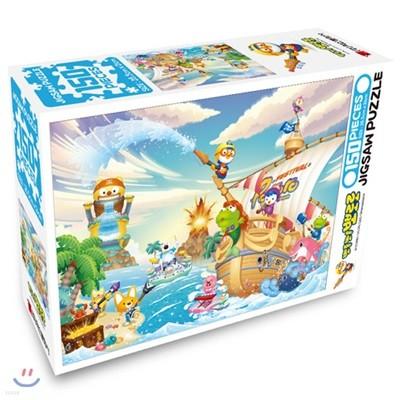 뽀롱뽀롱 뽀로로 직소퍼즐 150PCS : 해적섬의 여름