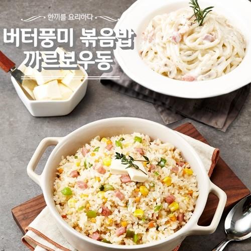 [착한시리즈] 버터풍미 볶음밥 5봉 + 까르보나라 우동 5봉