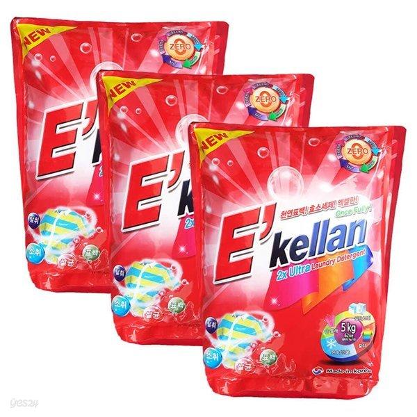 [공장직영] 엑켈란 고급가루세제 5kg 3개 세탁세제 /세탁세제.세제