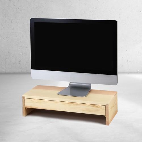 우드로하우스 소나무 원목 서랍 컴퓨터 모니터 받침대 HDM-803