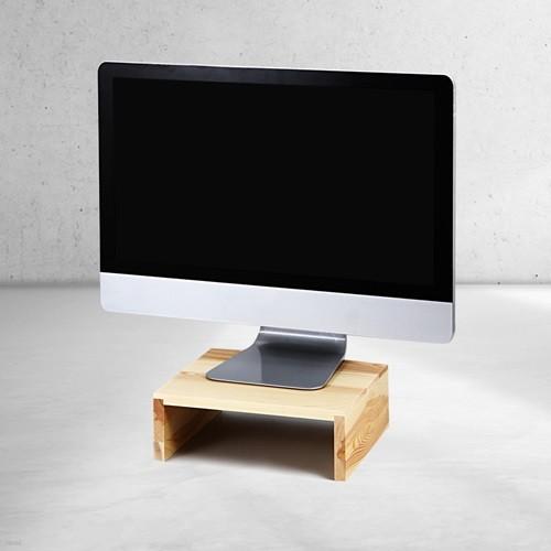 우드로하우스 소나무 원목 미니 컴퓨터 모니터받침대 HDM-801