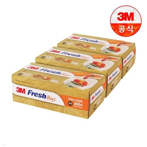 [3M]후레쉬 위생백 중형 300매 3개세트 (총 900매)