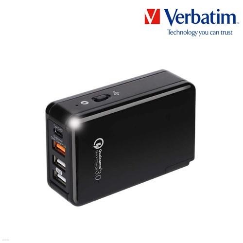 가정용 멀티 허브 충전기 QC 3.0 4포트 C타입 / USB PD 블랙