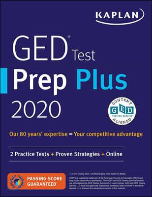 Kaplan GED Test Prep Plus 2020