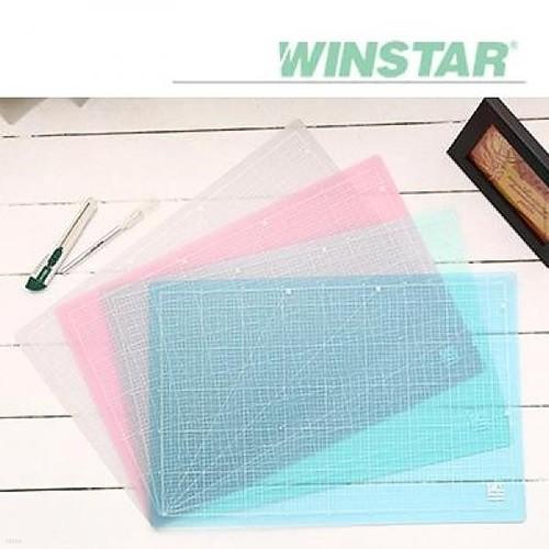윈스타 PVC 반투명 300X215 A4 데스크 커팅 매트
