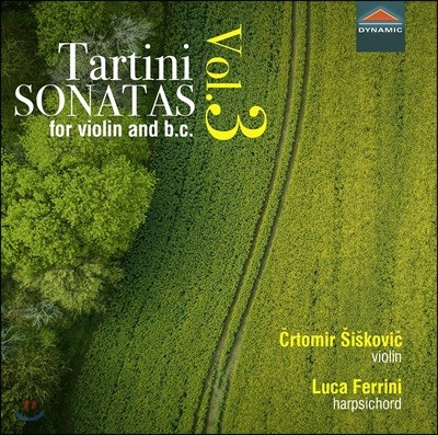 Crtomir Siskovic / Luca Ferrini 주세페 타르티니: 바이올린 소나타 3집 (Giuseppe Tartini: Sonatas For Violin And B.C. Vol.3)
