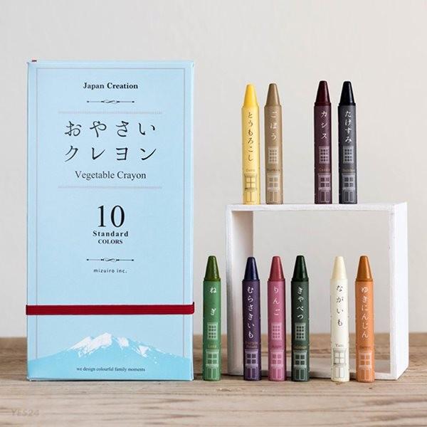 미즈이로 야채크레용(10색) 미술놀이