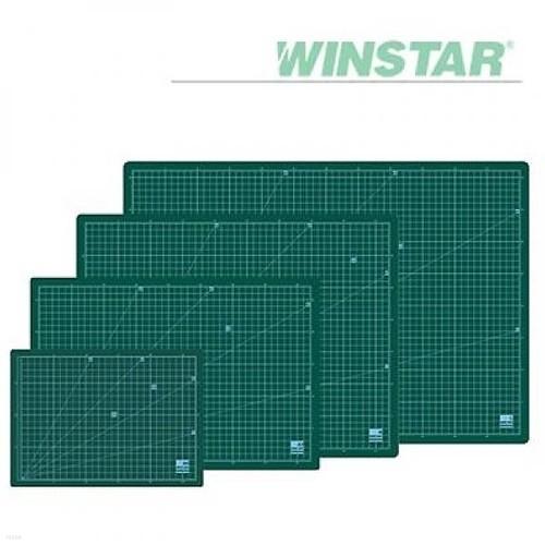 윈스타 녹색  300X215  A4 데스크 고무매트