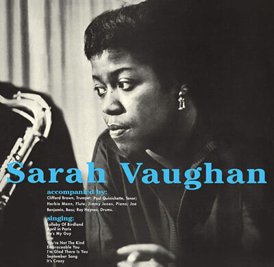 Sarah Vaughan (사라 본) - With Clifford Brown [블루 컬러 LP]