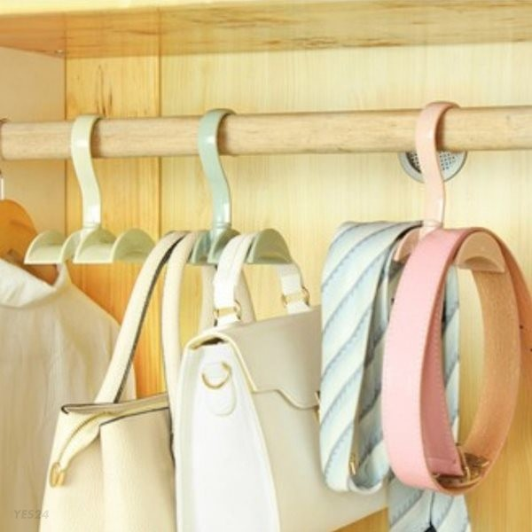갓샵 파스텔톤 4color 다용도 이중 가방걸이 다이소 가방정리 가방옷걸이