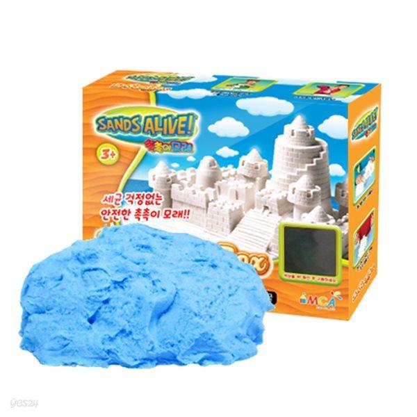 [34%특가]촉촉이모래 모래놀이 단품 450g 블루