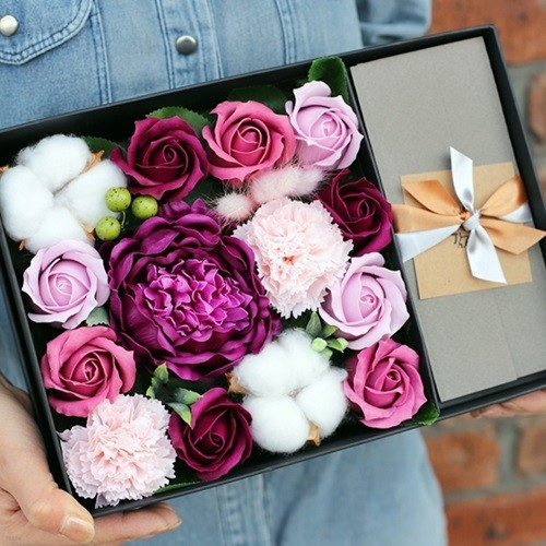 작약 플라워 용돈박스 선물세트 - 카네이션 부모님 결혼기념일 어버이날 비누꽃 돈꽃다발