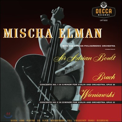 Mischa Elman 미샤 엘만 바이올린 협주곡집 - 브루흐 / 비에냐프스키 [LP]