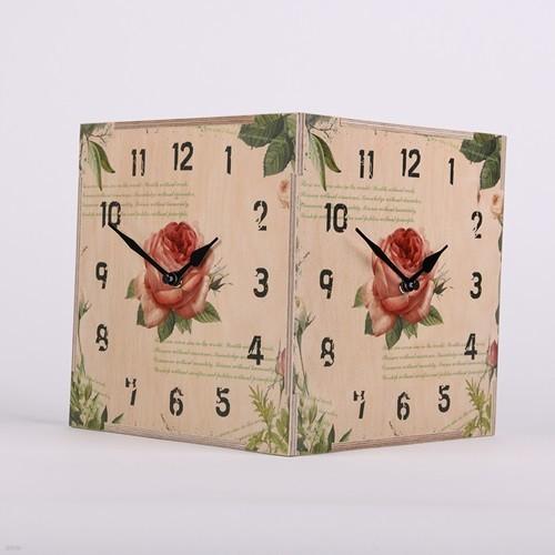 [하이모리] 타임데코 로즈 코너시계 [양면시계/인테리어소품/핸드메이드/집들이선물]