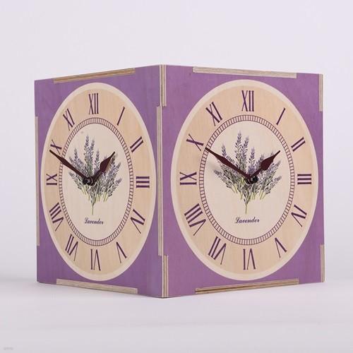 [하이모리] 타임데코 라벤더 코너시계 [양면시계/인테리어시계/핸드메이드/집들이선물]