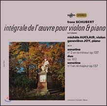 Michele Auclair 슈베르트: 바이올린과 피아노를 위한 작품 2집 - 미셸 오클레르 [LP]