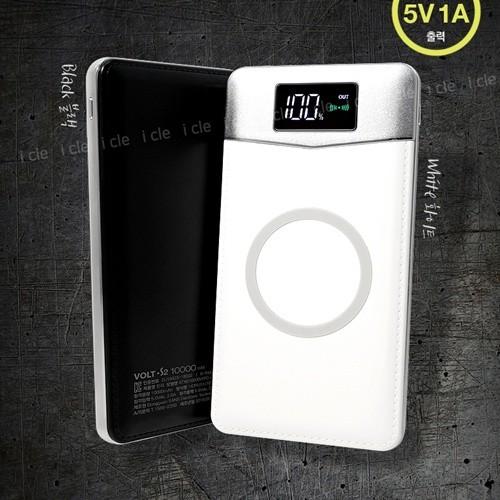 엑스트라 VOLT-S2 LCD 무선충전 보조배터리 블랙색상 10000mAh