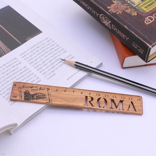 빈티지 로마 우드 막대자