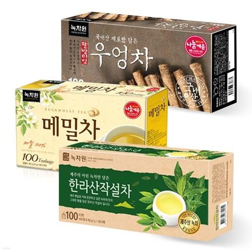 [녹차원]건강차 300티백세트(한라산작설차+메밀...