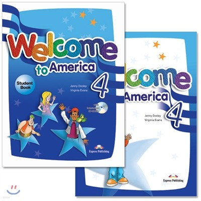 Welcome To America 4 : Student Book + Work Book