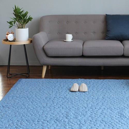 아이스 엠보 카페트 200X230 -블루