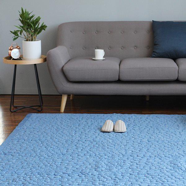 아이스 엠보 카페트 160X210 -블루