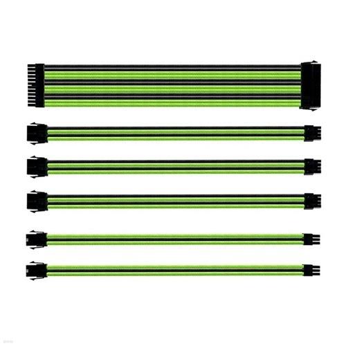 쿨러마스터 Sleeved Extension Cable Kit (0.3m, 그린)
