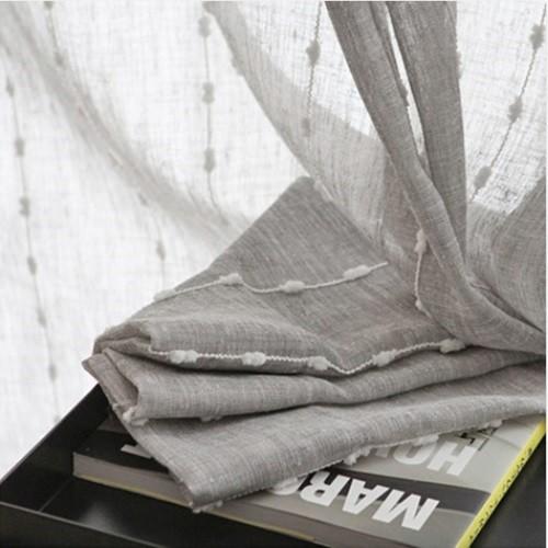 하프 폼폼 커튼 나비형 S(135x150cm)