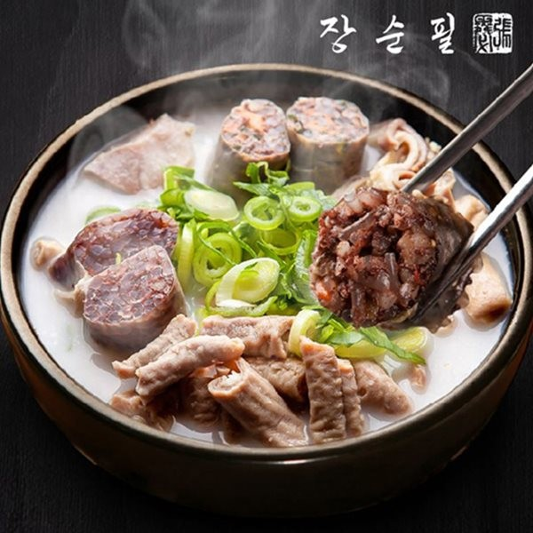 장순필푸드 가마솥 순대탕 5봉+양념장5봉