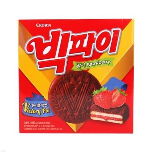 [크라운] 빅파이 딸기 (324g/18입)